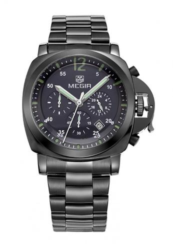 Sk Time Watch Shop black Japan Design Seiko Movement Megir 18k Plating Watch C5219ACBC119DFGS_1