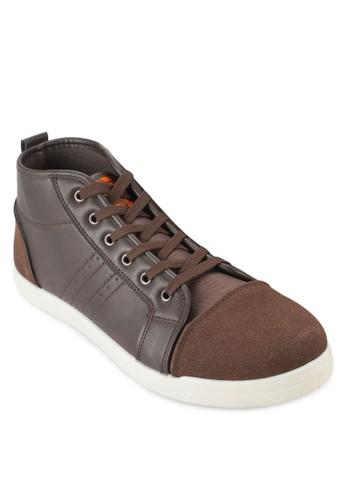 New Frederic 配色拼接高esprit 香港筒運動鞋, 鞋, 休閒鞋
