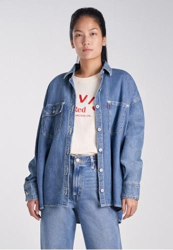 Levi's blue Levi's Levi's® Red Women's Denim Woven Shirt A0155-0000 DBE87AA5E07F39GS_1