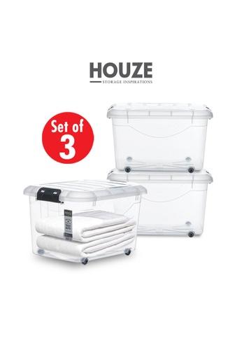 HOUZE [SET OF 3] HOUZE 30L Motif Storage Box with Wheels A46DEHLE8098B1GS_1