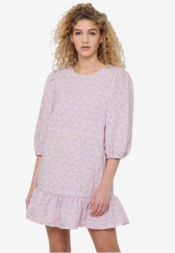 JACQUELINE DE YONG pink Scarlet 3/4 Short Quilt Dress 2A0EDAA4778A0BGS_1