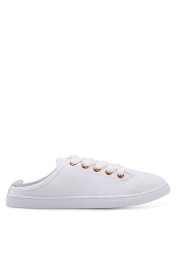 Rubi white Riley Cut Out Mule Sneakers CFAFBSHA6E8F6BGS_1