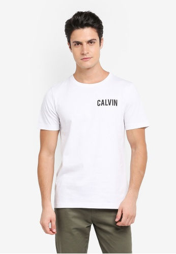 Calvin Klein white Toreos Regular Crew Neck Short Sleeve T-Shirt - Calvin Klein Jeans EE560AA23388BEGS_1
