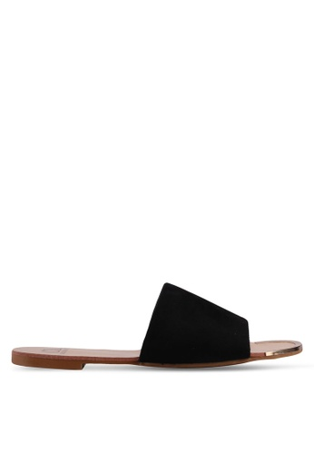 Carlton London black Suede Slides 20FDFSHA04BC0FGS_1