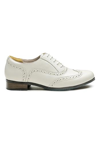 Byford white James Brogue Oxford Shoes 8FDC4SHB3E22C6GS_1