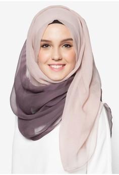 Two Tone Chiffon Hijab