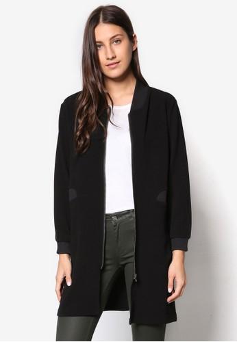 長版立領拉鍊外套esprit專櫃, 服飾, 夾克 & 大衣