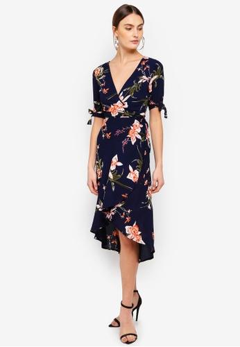 7948dca78ad Shop AX Paris Floral Print Wrap Dress Online on ZALORA Philippines