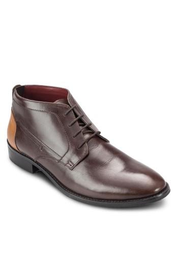 撞色低筒皮靴、 鞋、 鞋ACUTO撞色低筒皮靴最新折價