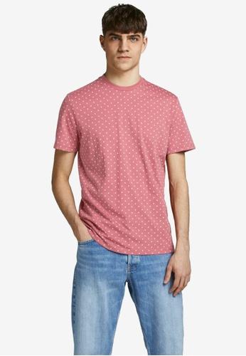 JACK & JONES pink All Over Printed T-Shirt 81B12AA8DA27C7GS_1