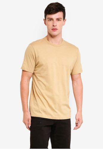 Topman 米褐色 圓領T恤 79D79AA49044DCGS_1