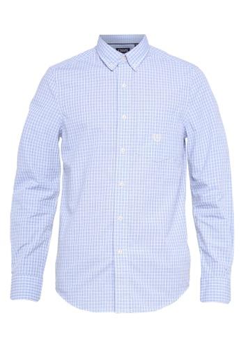 Chaps blue Chaps Cotton Button-Down Shirt  2433AAA766A1FFGS_1
