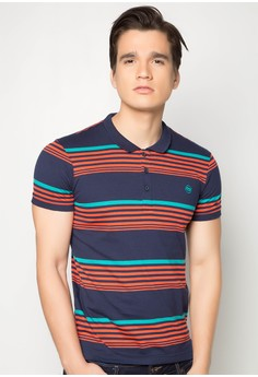 Slim Fit Stripes Polo Tee
