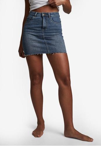 Cotton On blue Classic Stretch Denim Mini Skirt 9D6C4AA94D9957GS_1