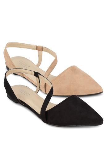 二入組Kimberleesprit台灣網頁y 尖頭繞踝平底鞋, 女鞋, 鞋