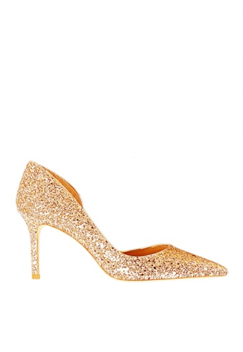 Twenty Eight Shoes gold Unilateral Open Sequins Evening and Bridal Shoes VP88621 180E6SH7C2DBCAGS_1