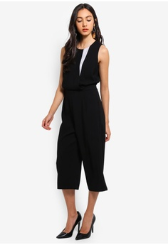 88c43f1c445 Dressing Paula black Color-block Crepe Jumpsuit 1C54BAAF8D662CGS 1