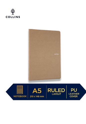 Collins brown Collins Metropolitan Melbourne  ─  Notebook A5 Ruled Brown DD2FFHL5401E2EGS_1