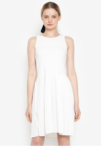 Susto The Label white Glynis Pleated Dress AE22DAA175BFFAGS_1