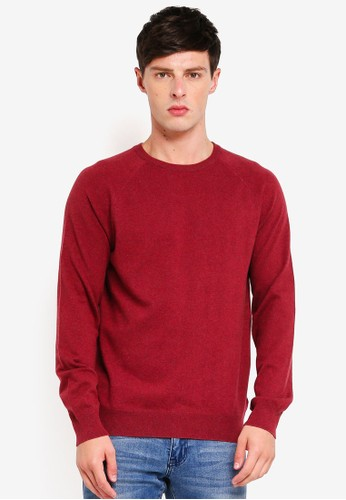 French Connection red Stretch Cotton Crew Sweatshirt 9DDE2AA4D84E82GS_1