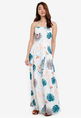 ZALORA white Maxi Dress With Trimmings D23E5AAC7CA272GS_1