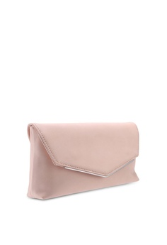 689e0b7c22982 31% OFF Dorothy Perkins Pale Pink Metal Bar Clutch Bag RM 79.00 NOW RM  54.90 Sizes One Size