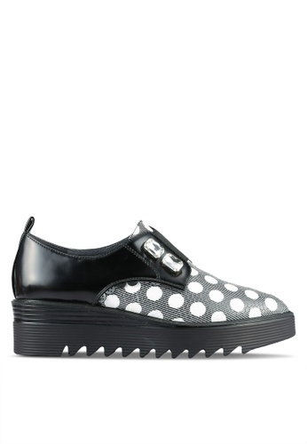 House of Avenues black Platform Oxford Shoes HO685SH0RRAVMY_1