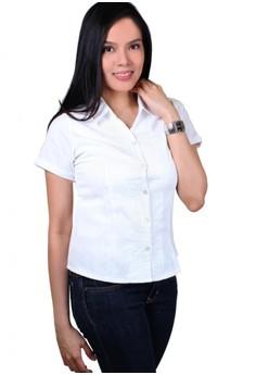 Coral Fashionable Ladies Work Shirts/Formal Shirt