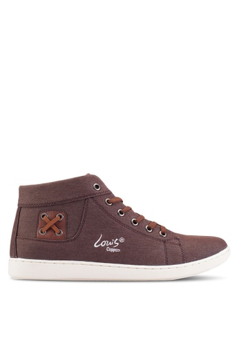 Louis Cuppers brown High Top Sneakers LO977SH93ZJEMY_1