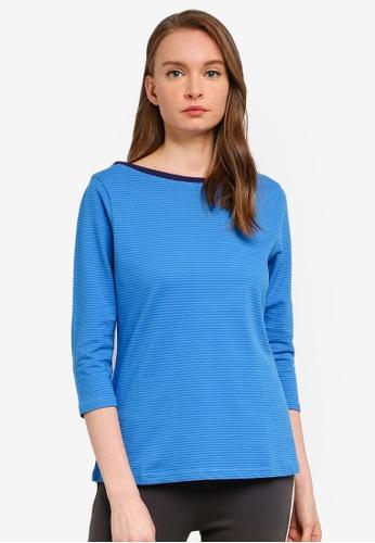 UniqTee blue Basic 3/4 Sleeves T-Shirt D645CAA2E7C8CCGS_1