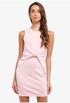 ZALORA pink Twist Panel Sleeveless Dress 09BC0AA4FF63EAGS_1