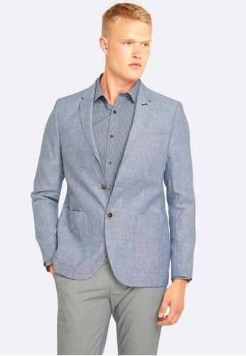 Oxford blue Larkin Linen Blazer OX512AA0HB2WSG_1