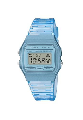 Casio blue Casio Jelly Transparent Watch (F91WS-2) 3351BKC3F0FD62GS_1