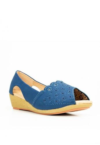 Mario D' boro Runway blue LS 96626-Navy Blue- Wedge Sandals 3EDF6SH1478D7BGS_1