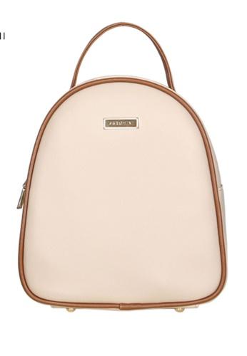 Verchini beige Verchini Dome Backpack AB641AC9ED7C01GS_1
