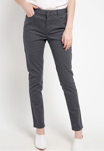 Giordano grey Women's Essential Khakis - Slim Tpr 773F7AA4B77522GS_1