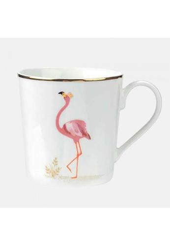 Sara Miller white Sara Miller London -Flamboyant Flamingo Mug (SMPFL78914-XG) 8B51AHL33CBA30GS_1