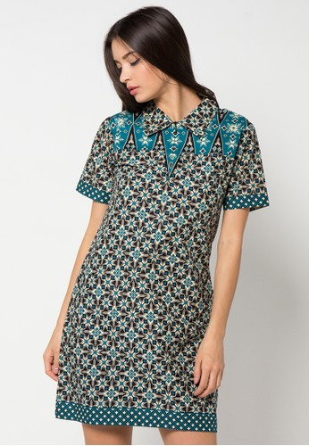 Batik Indra Loka Short Sleeve Dress Kelir