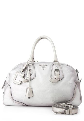 Prada silver Pre-Owned Prada Shoulder Bag B1872AC71EF52AGS_1