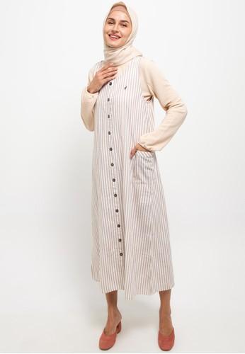 Cressida Ladies beige Aish Overall Dresses 97D5CAA2F282C8GS_1