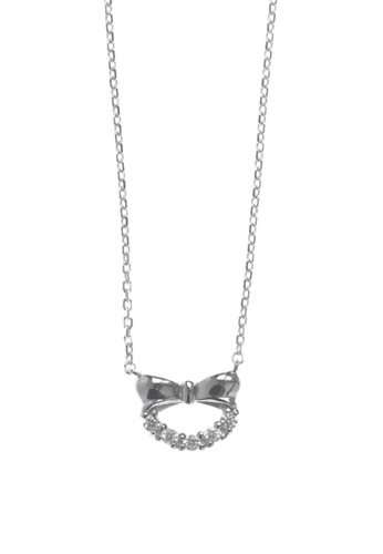 The LoveMark silver Silver Bow Earrings and Necklace TH516AC57ALQPH_1