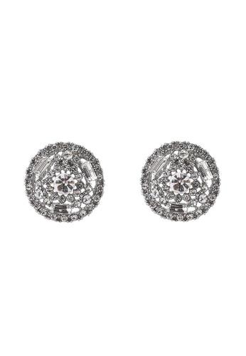 River Island 白色 鑽飾鉚釘耳環 BB4CAAC6D2E39EGS_1