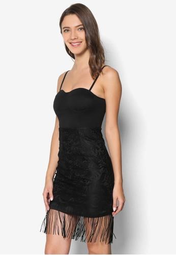 流蘇蕾絲拼接洋裝, 服飾, esprit 尖沙咀洋裝