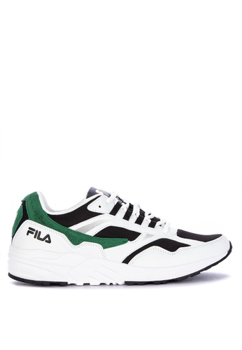 Fila white Capable Running Shoes 10A12SHF1584BDGS_1