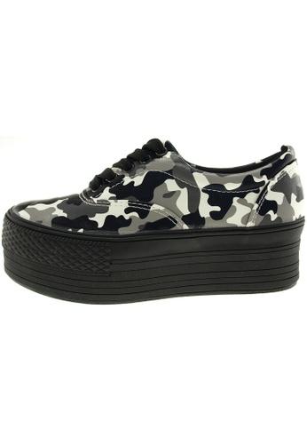 Maxstar 灰色 新款韩国鞋C50-5H-Mil時尚聚酯纖維布布混合女灰色 US Women Size MA345SH16GSPTW_1