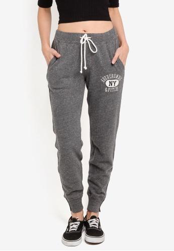 Abercrombie & Fitch grey Core Jogger Pants 96E5CAAF2E66ECGS_1
