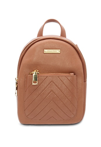 POLO HILL brown and pink and orange POLO HILL Lil' Pocket Ladies Backpack 8DF4DACCEAFF17GS_1