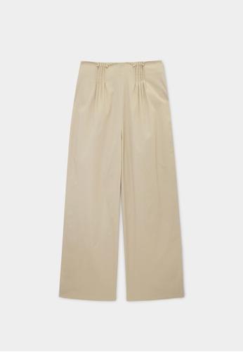 Pomelo beige Sustainable High Waist Trousers - Beige 3CB26AA9933B09GS_1