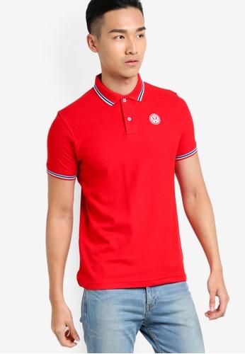 Volkswagen red Basic Polo Shirt VO089AA21JLMMY_1