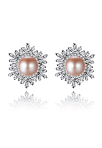 A.Excellence pink Premium Pink Pearl Elegant Earring D2767AC586119FGS_1